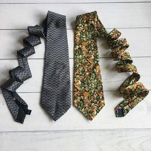 Set of Two Vintage Disney Ties. 100% silk